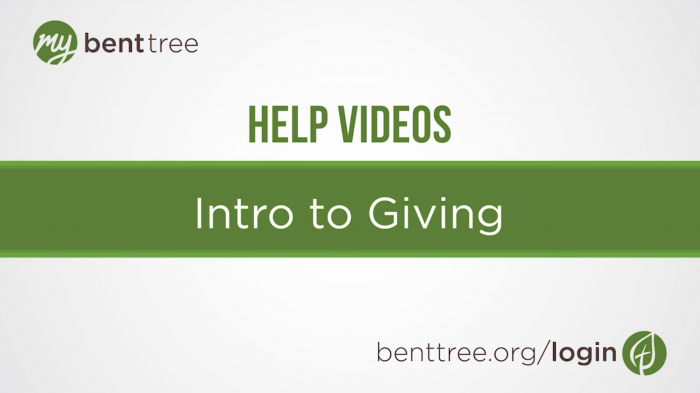 Intro to Giving | Help Videos