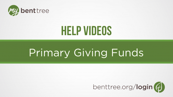 Primary Funds | Help Videos