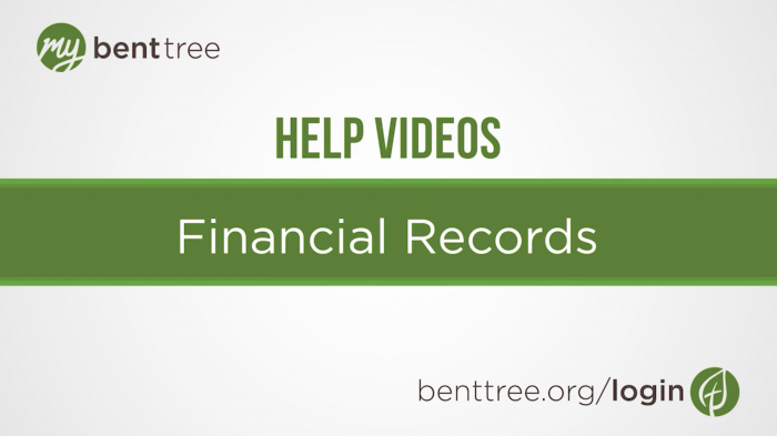 Financial Records | Help Videos