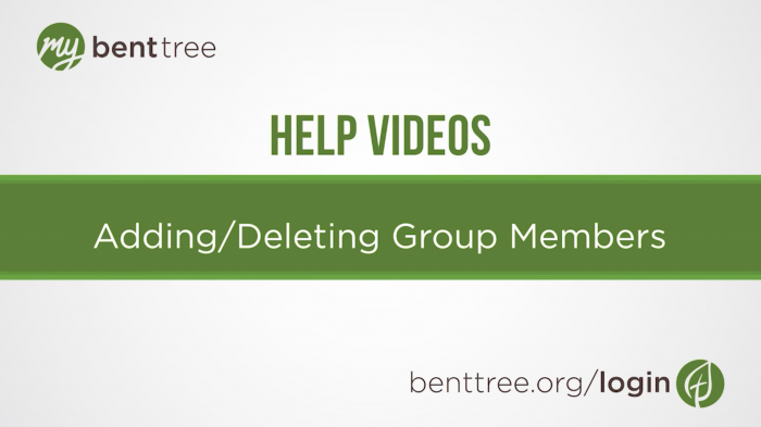 Adding / Deleting Group Members | Help Videos